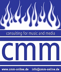 cmm ROCKAGENTUR . the heart of rock'n'roll Logo